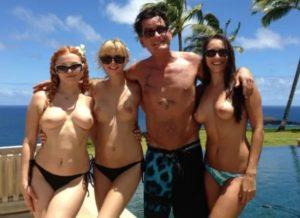 Charlie with nude pornstars